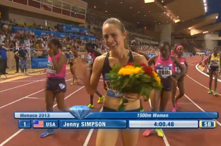 Jenny Simpson celebrates