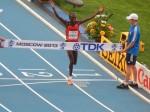 Stephen Kiprotich Wins the World  Marathon Title