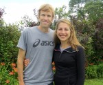 Ryan and Sara Hall before the 2013 TD Beach to Beacon 10-K (photo by Chris Lotsbom for Race Results Weekly).