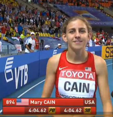 Mary Cain before the race