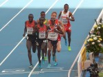 Mo Farah Leads At the Bell (Click for Photo Gallery of the Semifinals)