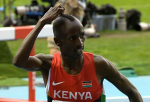 Kemboi was proud of his mo-hawk after the race