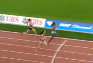 This one was tight for the entire last 100m.