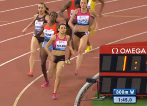 Entering the final 100, Savinova was right where she wanted to be