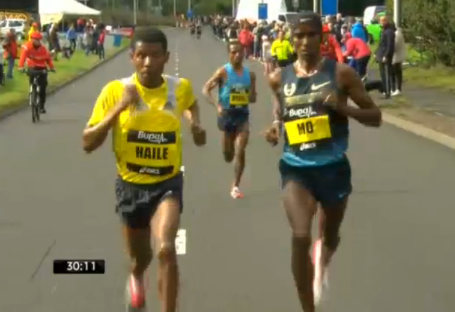 Kenenisa Bekele fell behind before 10k (by design) and got the win