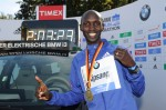 Kipsang set the world record in 2013; he couldn't possibly do it again in Tokyo, could he?