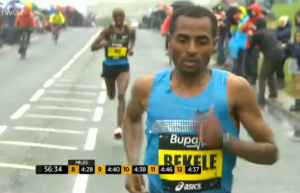 Bekele was great at the Great North run in 2014