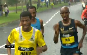 Haile pushing