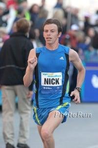 Nick Arciniaga at the NYC Half in 2010