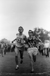 Photo finish of Gerry Lindren and Steve Prefontaine at 1969 Pac 8 meet. Lindgredn was declared the winner. Photo by Laurence Mueller.