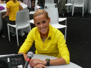 Ana Dulce Félix prior to the 2013 New York City Marathon
