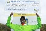 Stephen Sambu Celebrates His $100,000 (Click for BAA Half-Photo Gallery)
