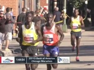 Emmanuel Mutai hung tough
