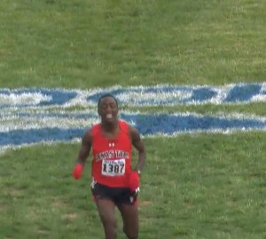 Kennedy Kithuka dominated but pushed hard through the line in hopes of the course record