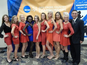 James Li i(Far right) is hoping his Wildcats will be posing for pictures yet again on Saturday afternoon. *2013 NCAA Banquet Photos