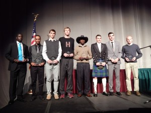 Kennedy Kithuka (with Cowboy hat) and 7 of the other region champions on Thurseday night