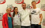 PHOTO: Shalane Flanagan, Molly Huddle, Chris Solinsky and Matt Tegenkamp in advance of the 2013 .US Road Running Championships (photo by David Monti for Race Results Weekly)