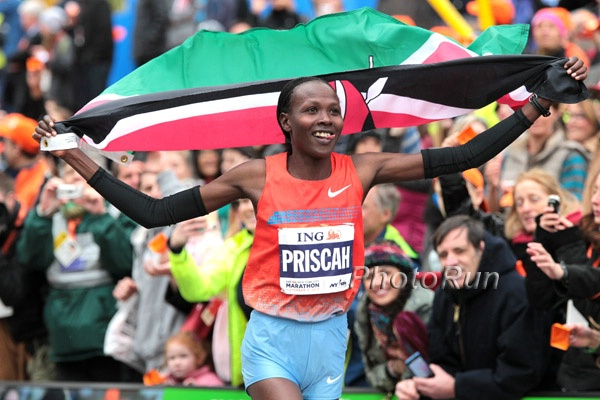 Priscah Jeptoo After Winning 2013 ING NYC Marathon (Click for photo gallery)