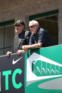 Phil Knight and Vin Lananna