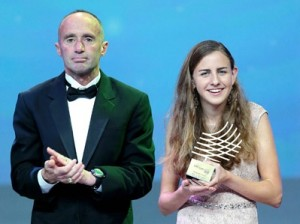 Two American Legends: Mary Cain and Alberto Salazar in Monaco at the IAAF Awards in 2013