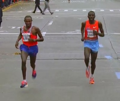 Biwott battled Geoffrey Mutai in New York in 2013