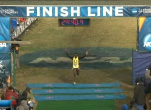 Edward Cheserek of Oregon Win the 2013 NCAA Cross Country Championships
