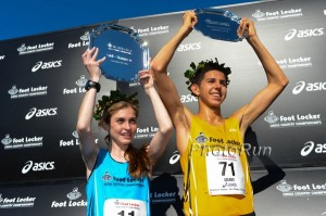 Grant Fisher and Tessa Barrett 2013 Foot Locker Champions