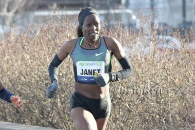 Janet Bawcom at 2013 NYC Half Marathon