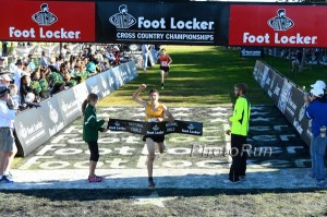 Grant Fisher Wins Foot Locker 2013 (And a Bearded Ryan Hall Holds the Tape)