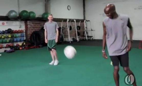 Rupp and Farah playing soccer earlier this year. Oregonian video here.