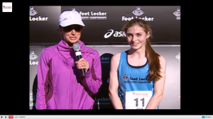 Tessa Barrett and Deena Kastor