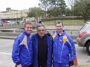 Joe Vigil (Center) and LRC coaching Guru John Kellogg (Right) and Adams State Perfect Team Member Paul Stoneham (left)