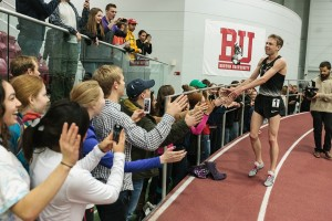 Galen Rupp Celebrates With the Fans