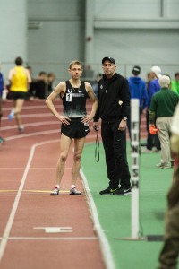 Galen Rupp and Alberto Salazar Before His 5000m Record (click for photo gallery)