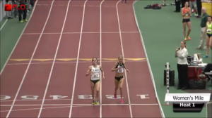 D'Agostino and Hasay at the finish