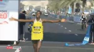 Tsegaye Mekonnen Asefa celebrates