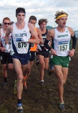 Will Geoghegan (r) at 5k of 2013 NCAAs with Villanova's Patrick Tiernan. *More 2013 NCAA Cross Country Photos