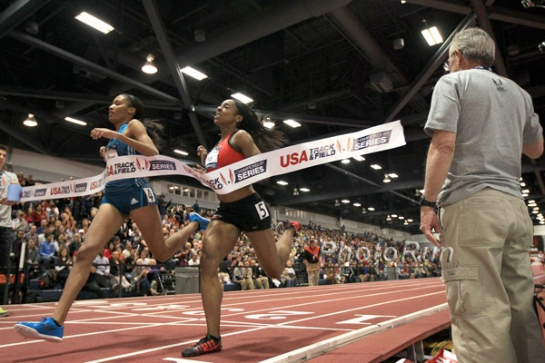 Ajee Wilson over Price 2014 USA indoor