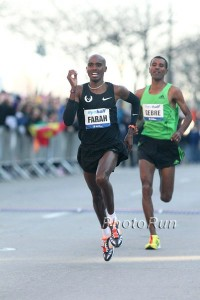 Mo Farah on His Way to Winning the 2011 NYC Half Marathon (click for photo gallery)