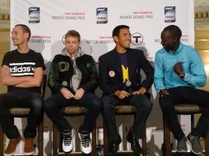 Nick Willis, Galen Rupp, Leo Manzano, Lopez Lomong (click for photo gallery)