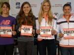 Jenny Simpson, Mary Cain, Emma Coburn, Kim Conley