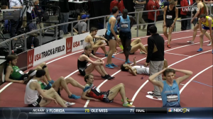 Lagat had a lot of guys to get around on the last lap