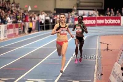 Jenny Simpson Kicks a Lap Early