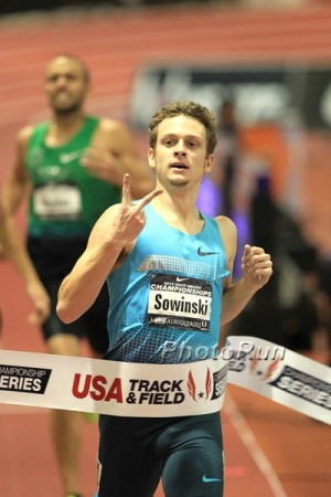 Sowinski winning his second of three U.S. indoor titles in 2014