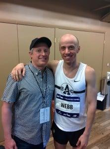 Alan Webb and Sub-4 author Chris Lear