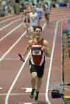 Michael Atchoo Celebrates Stanfords 2014 DMR Win at Indoor NCAAs