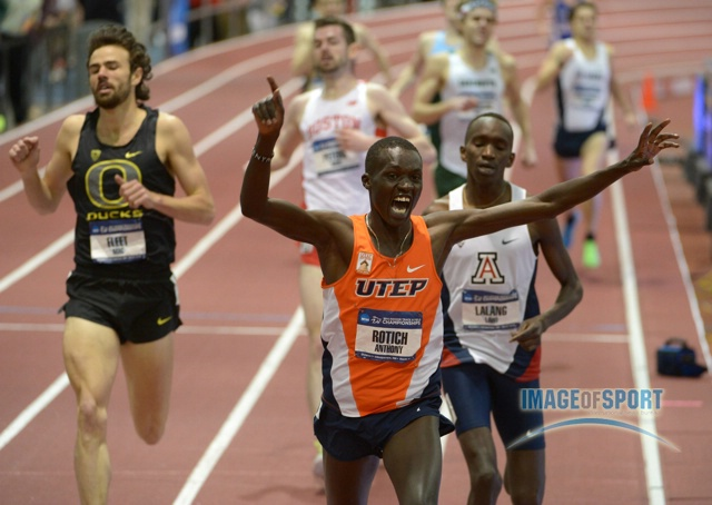 Anthony Rotich Wins the Mile (Photo by Kirby Lee, Image of Sport, Click for Photo Gallery)