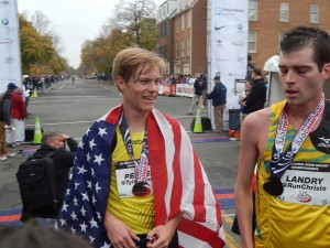 Tyler Pennel (l) at the .US National Champs last November. *2014 .US Photos