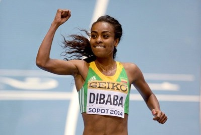 Dibaba won world indoor gold in 2014 and will be favored to do so again on Sunday
