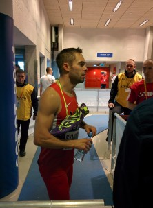 Symmonds greets the media